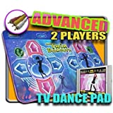 : DDR Game TV Plug-N-Play Blue Advanced Two-Player Dance Pad - No consoles or systems require just plu