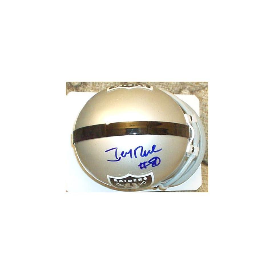 Jerry Rice autographed Raiders mini helmet