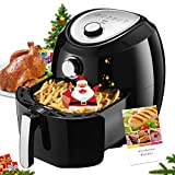 Habor Air Fryer XL, 5.8QT Electric Hot Air Fryer Oven, Oilless Air Cooker with Hot Air Circulation, Time & Temperature Control, Dishwasher Safe Non-stick Basket (Recipes Included), Black For Sale