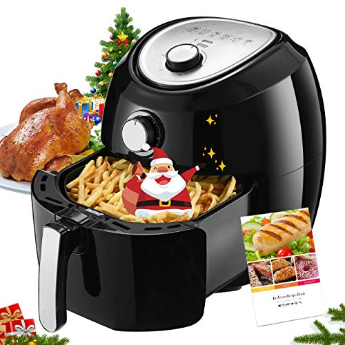 Habor Air Fryer XL, 5.8QT Electric Hot Air Fryer Oven, Oilless Air Cooker with Hot Air Circulation, Time & Temperature Control, Dishwasher Safe Non-stick Basket (Recipes Included)