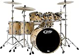 PDP By DW 7-Piece Concept Maple Shell Pack with Chrome Hardware Natural