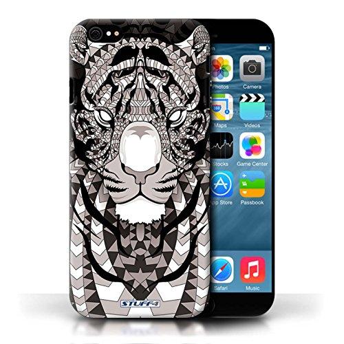 Etui / Coque pour Apple iPhone 6/6S / Tigre-Mono conception / Collection de Motif Animaux Aztec