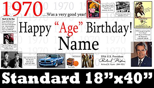 1970 PERSONALIZED BANNER (18X40 in.)