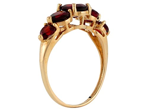Jewelry Liquidation 10k Yellow Gold Natural Garnet Simple Beauty Ladies Every Day Ring