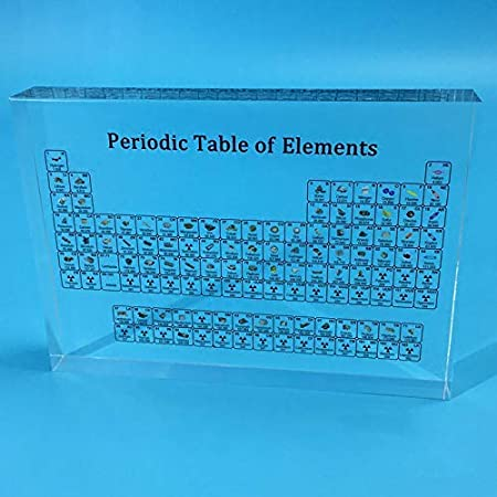 Crazywind Periodic Table Display with Elements Student Teacher Gifts Crafts Decor