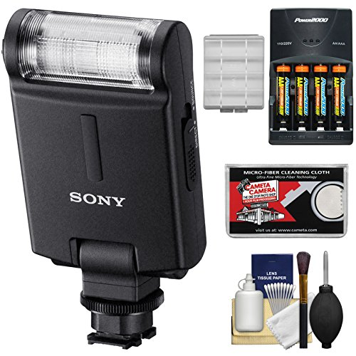 Sony Alpha HVL-F20M External Flash with Batteries & Charger + Accessory Kit (Sony Mi Flash)