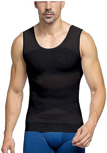 Rainy Chaleco Moldeador Adelgazante Reductora para Hombre Gynecomastia Compresión Camiseta Faja de Abdomen Pecho Ropa Interior: Amazon.es: Ropa y accesorios