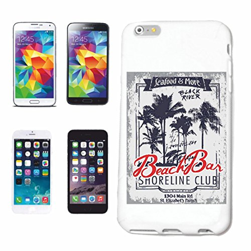 "cas de téléphone iPhone 7+ Plus ""SEAFOOD & MORE BEACH BAR BLACK RIVER SURFING BEACH SURFBOARDS LONGBOARD ONDES SURF Beginner Shop"" Hard Case Cover Téléphone Covers Smart Cover pour Apple iPhone en bla"