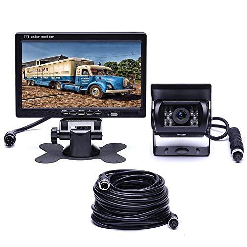 podofo Wired Backup Camera Waterproof 18 IR LED Night Vision Bluetooth Reverse Camera + 7