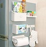 Sterling 5-In-1 Multipurpose Magnetic Refrigerator Storage Rack