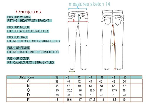 Oranjeans 0C331 - Vaquero straight para mujer Marrón