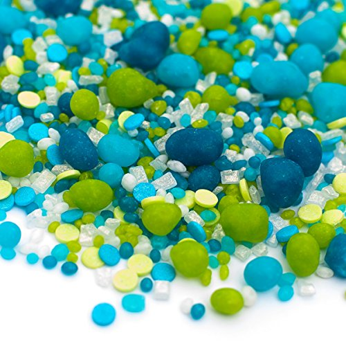 Candy Sprinkles | Under The Sea Candyfetti | 8oz Jar | Green and Blue | MADE IN THE USA! | Edible Confetti by Sweets Indeed (Image #2)'