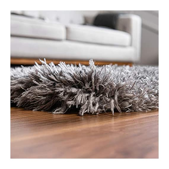 Infinity Collection Solid Shag Runner Rug by Rugs.com – Smoke 2' x 6' High-Pile Plush Shag Rug Perfect for Hallways, Living Rooms, Bedrooms and More - SOFT AND DURABLE CONSTRUCTION - Made with high quality polypropylene that is as durable as it is soft. Our rugs stand up abuse even in high-traffic areas. PERFECTLY SIZED - 5' x 8' Area rugs are the perfect size for Living Rooms, Bedrooms, Dining Rooms , or anywhere you want to bring a little more style into your home EASY TO CLEAN - Our rugs are waterproof, mold and mildew resistant, stain resistant, and shed proof. With regular vacuuming (no beater bar!), your rug will last for years to come. - runner-rugs, entryway-furniture-decor, entryway-laundry-room - 51P7Zedm4KL. SS570  -