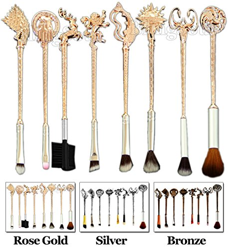 [Game of Thrones Costume Jewelry Merchandise - Khaleesi, Winter is Coming Gift by BlingSoul Premium Quality (Brush Set - Rose Gold)] (Bond Costumes Ideas)