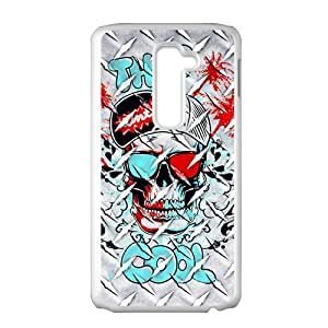 SANYISAN Creative Skull Wiht Sunglasses Hot Seller High Quality Case Cove For LG G2