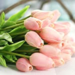 Amzali-Artificial-Flowers-Real-Touch-Mini-PU-Tulips-Bouquet-Fake-Tulips-Flowers-Arrangement-Artificial-Plants-for-Wedding-Centerpiece-Room-Home-Hotel-Party-Event-Christmas-Decor-Pink-Set-of-30