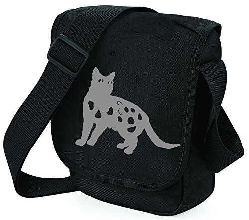 S Gray Black Polyester Women Pixie Bag Bag Shoulder Bag Cat H6pXXAnF