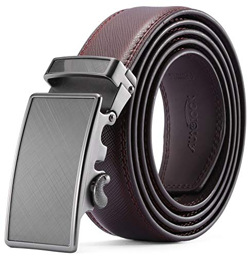 Men's Belt - Autolock Leather Ratchet Dress Belt for Men With Automatic Buckle - Enclosed in an Elegant Gift -