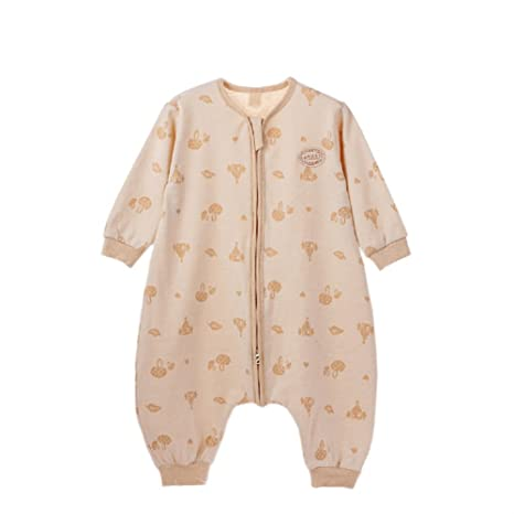 sfghouse bebé niños Natural Colores algodón Primavera Verano Saco de dormir Saco de dormir con mangas