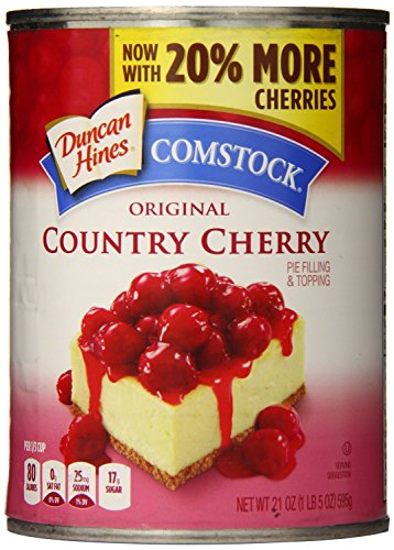 Comstock Original Pie Filling & Topping, Country Cherry, 21 Ounce