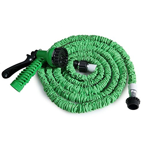 7 in 1 Spray Gun 25-200FT Expandable Garden Hose Latex Tube Magic Hose For Garden Car Plastic Hoses 3 Colors - 200ft Green by Unknown