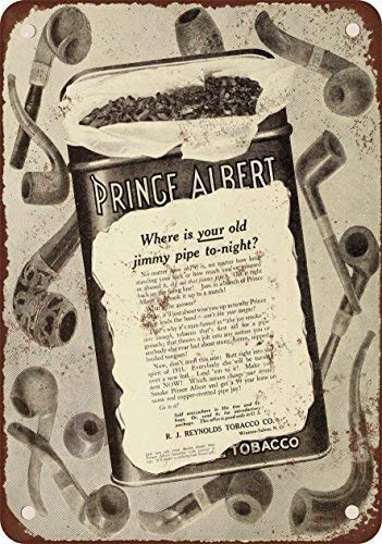 (GMNJH 1910 Prince Albert Pipe Tobacco Vintage Look Reproduction Metal Tin Sign 8X12 Inches)