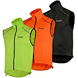 Didoo Mens Cycling Gilet Lightweight Wind Resistant Breathable Jacket