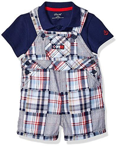 - Little Me Baby Boys Shortall Set, Plaid 9 Months