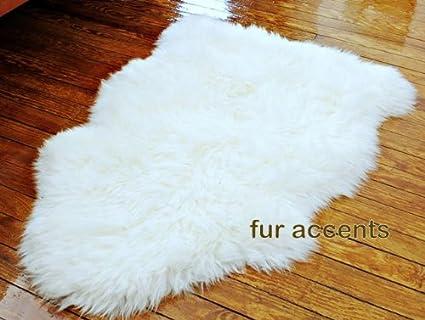 Amazon Com Fur Accents Faux Fur Area Rug Fake Sheepskin Off