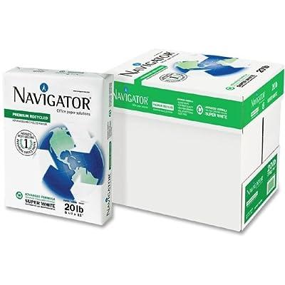 Bulk Printer Paper, Letter Sized, 20lb, 75% Recycled Copy Paper: Navigator NR1120 (40 Copier Paper)