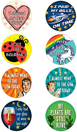 16 Adult Achievement Stickers (Adulting) - Perfect Funny Gift For White Elephant Gifts, Hostess Gifts, Christmas Presents, or Gag Gifts (White Elephant For Christmas Games)