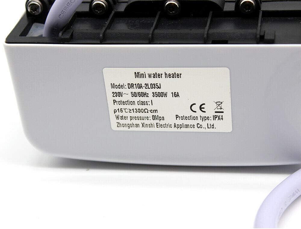 VEVOR Calentador de Agua El/éctrico 2 kW Mini Calentador de Agua 12 L Calentador de Agua Instant/áneo El/éctrico Rango de Ajuste de Temperatura 30 ℃ 75 ℃ para Montar Debajo del Lavabo Water Heater