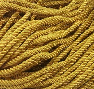 ArRord Gold Shiny Twist Cord Choker Thread Twine String Rope Piping Supplies Chain 3 ()