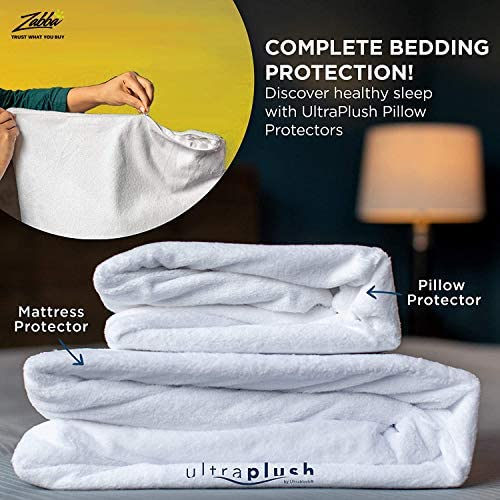 UltraPlush King Waterproof Mattress Protector - Bedwetting, Mites, Bed Bug Cover