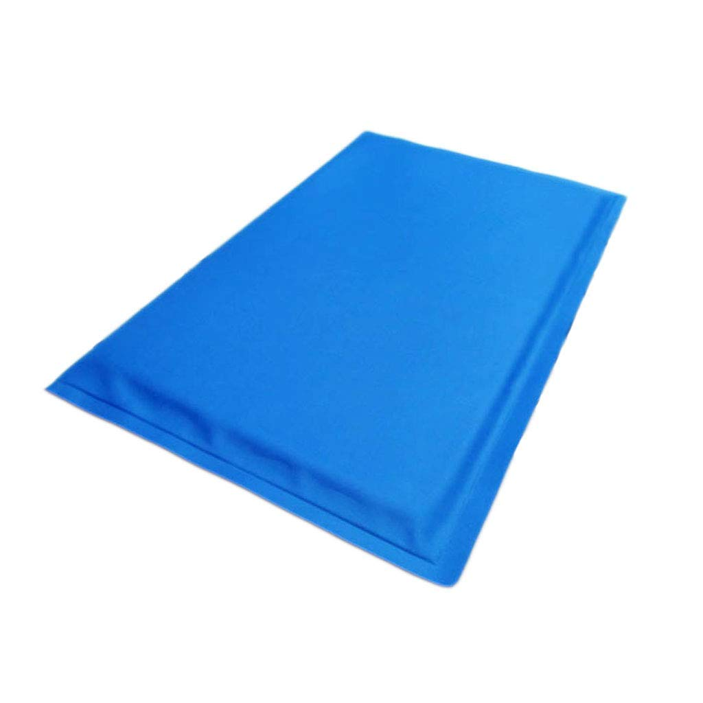 bluee Small bluee Small Kennel Pads Dog Beds Pet Cooling Mat, Dog Cat Summer Cooling Solid Ice Pad Cool Nest, bluee Cat Bed Pet Supplies Cover (color   bluee, Size   S)