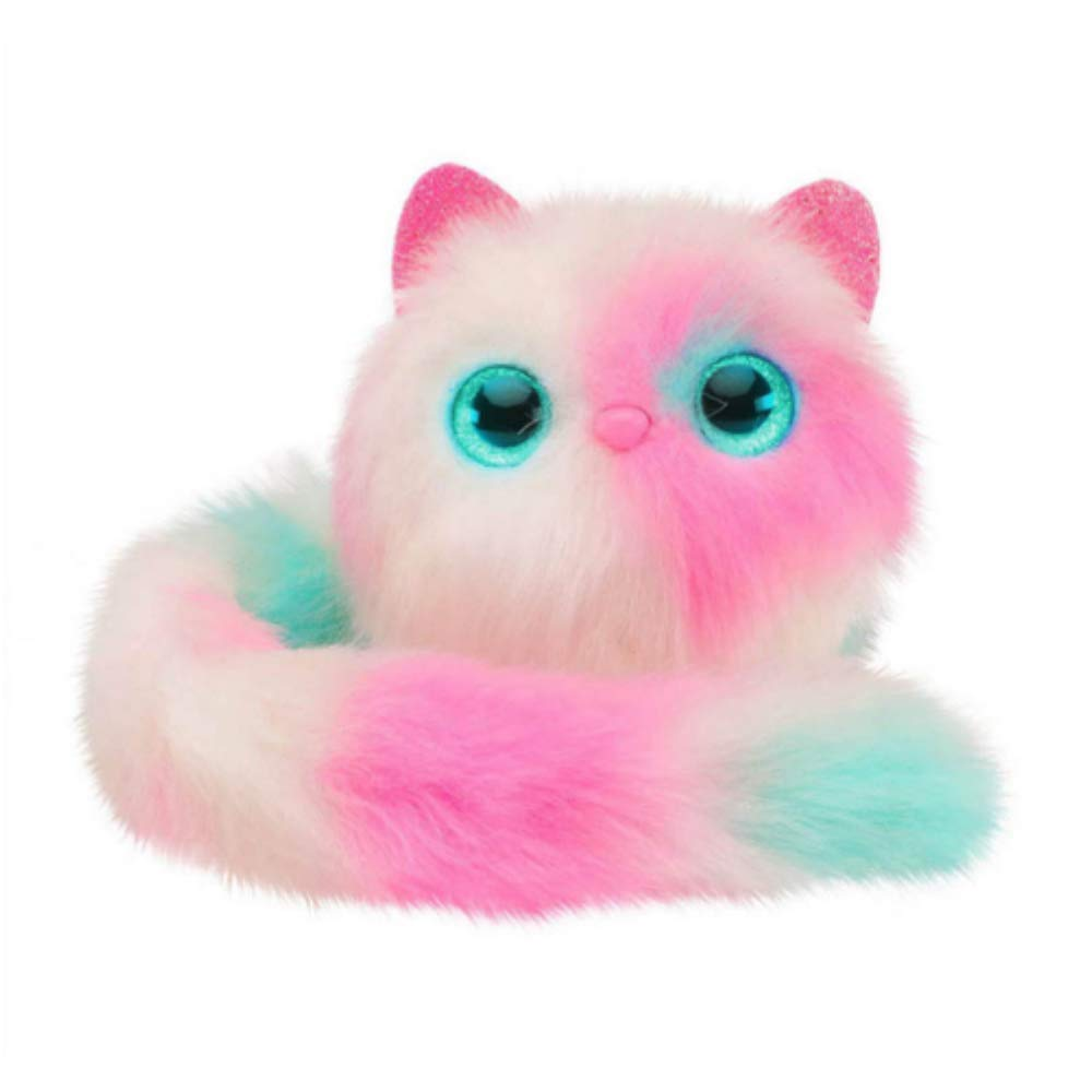 PP Pomsies Plush Interactive Toys for Kids Pomsies Toy White//Pink//Mint Pamsies