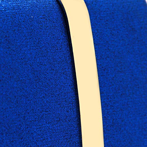 tracolla Borse a ferro blu singola orizzontali Club Blu per DUmulan feste lucido in moda da borsa sera donna Matrimonio da scatola frizione 6d0wO