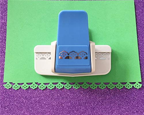 SaveStore Fan-Shaped Craft Border Punch DIY lace Embossing aid Puncher for Scrapbooking Handmade Foam Sector Paper Shaper