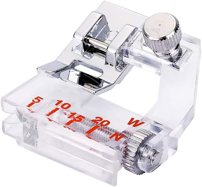SyeRum Prensatelas de Corte Lateral, prensatelas para máquina de Coser de Cinta, prensatelas de máquina de Coser de guía Ajustable prensatelas para máquina de Coser doméstica con Eje bajo