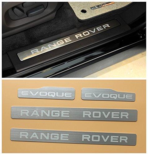 Aluminum 4PCS Door Step sill Scuff Plate Trim Guards for Land Range Rover Evoque 4Door 2012 2013 2014 2015 2016 2017 2018