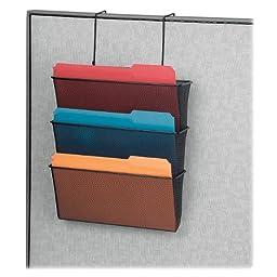 Fellowes Mesh Partition Additions Letter Size Black Triple File Pocket (75901)