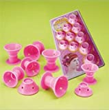 Easybuystore Magic Hair Care Roller No Clip Soft Hair Style Roller 10pcspink