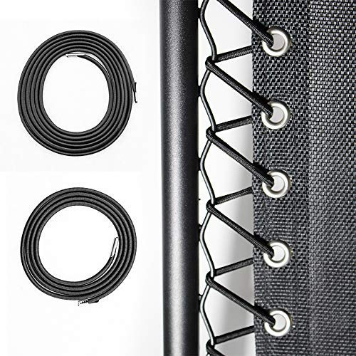 Cross Land 4 Pcs Universal Replacement Cords/Strings for Zero Gravity Chair,Recliners, Zero Gravity Chairs Repair Tool Kit for Lounge Chair/Anti Gravity Chair,Bungee Chair - One Chair Kit, Black-1
