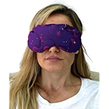 Eye Mask - Lavender Eye Pillow - Natural Relaxation - Stress Relief (Purple Stars)