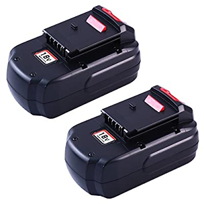 Topbatt 2Packs 18V 3000mAh Ni-MH Replacement Battery for Porter Cable PC18B PCC489N PCMVC PCXMVC from Topbatt