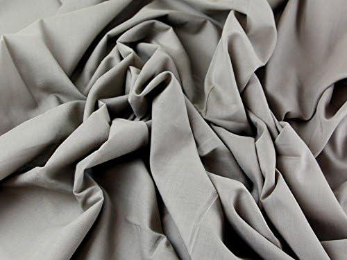 Tela de gasa de algodón lisa vestidos Taupe Marrón – Por metro ...