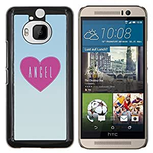 Caucho caso de Shell duro de la cubierta de accesorios de protección BY RAYDREAMMM - HTC One M9Plus M9+ M9 Plus - corazón rosa amor de pizza patrón de texto de arte