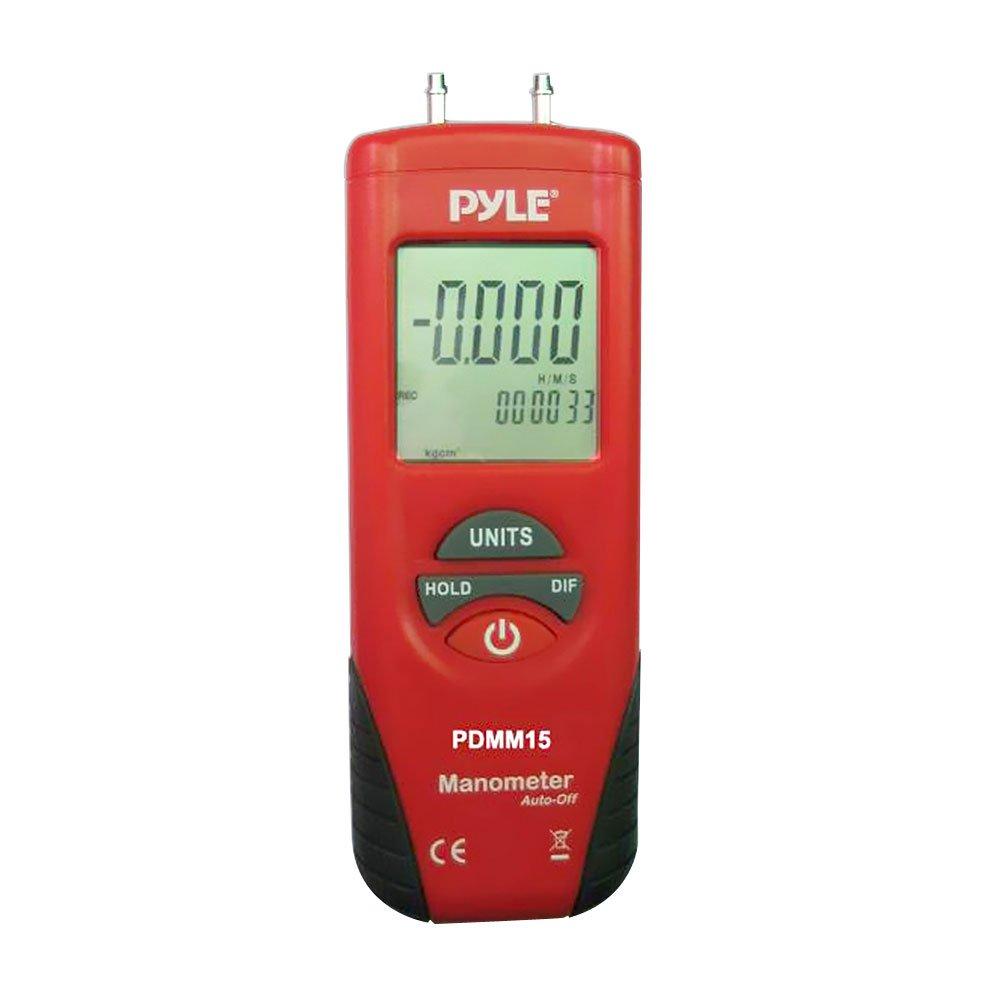 Pyle PDMM15 Digitales Manometer/Druckmesser, 11 Stück-belastbar 150 PSI, Rot
