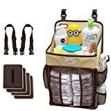 Baby Diaper Caddy and Nursery Storage Organizer - Hard Plastic Body-No Sagging