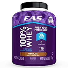EAS 100% Pure Whey Protein Powder, Chocolate, 5lb Tub, 30 grams of Whey Protein Per Serving (Packaging May Vary)
